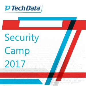 TECHDATA SECURITY CAMP 2017